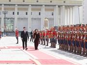 越南国家副主席邓氏玉盛分别会见蒙古国领导人