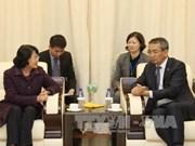 越南国家副主席邓氏玉盛对蒙古国进行正式访问