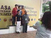 范氏河在2017年东南亚射击锦标赛上夺金