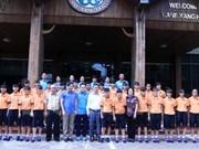 越南U15女子足球队力争进2017东南亚U15女子足球锦标赛总决赛