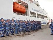 越南海警8004号船访问中国