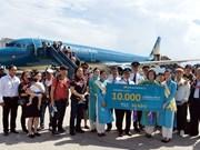 越航在岘港市迎来第1万个国际航班