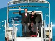 越南国家主席陈大光启程开始对中国进行国事访问