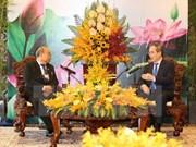 胡志明市市委书记阮善仁会见缅甸上议院议长