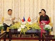 国会主席阮氏金银会见菲律宾众议院议长潘塔莱翁