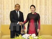 越南国会主席阮氏金银会见东帝汶国民议会议长