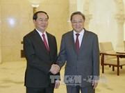 国家主席陈大光会见中国全国政协主席俞正声