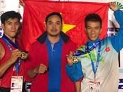 越南泰拳运动员在2017年IFMA世界业余泰拳锦标赛上夺冠