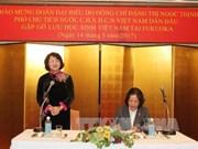 越南国家副主席邓氏玉盛亲切会见在福冈县留学的越南留学生