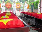 老挝向越方移交在老牺牲的越南志愿军和专家遗骸