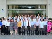 越通社社长与越通社驻外机构首席代表会面
