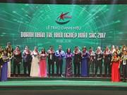 2017年优秀创业年轻企业家表彰大会在河内举行