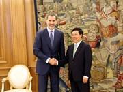 范平明副总理会见西班牙国王费利佩六世
