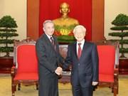 越共中央总书记阮富仲会见古巴共产党代表团