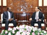 陈大光主席会见苏丹驻越大使