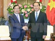 越南国家主席陈大光会见韩国总统特使