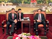 越南祖国阵线与柬埔寨祖国发展团结阵线加强合作