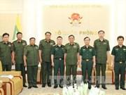 越南人民军副总参谋长范红香会见缅甸军队通信局代表团