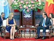 越南国家主席陈大光会见荷兰王后马克西玛