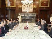 阮春福会见日本参议院议长
