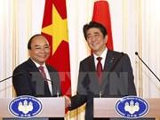 日本各主流媒体对阮春福与安倍晋三举行的会谈纷纷予以报道