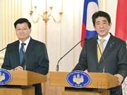 日本首相与老挝总理举行会谈 提及维护自由开放的国际秩序