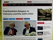 捷克媒体:捷克总统米洛什·泽曼希望捷越两国贸易实现平衡