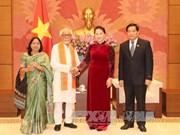 国会主席阮氏金银会见印度友人