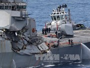 美驱逐舰与菲货船相撞:7名美军失踪士兵遗体寻获