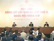 越南第十四届国会第三次会议:通过12项法律和若干决议