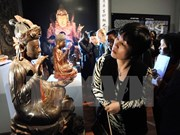 朱漆贴金古木制品   越南民族手工艺之美