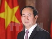 越南国家主席陈大光和夫人启程对白俄罗斯进行正式访问