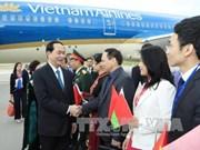 越南国家主席陈大光和夫人开始对白俄罗斯进行正式访问