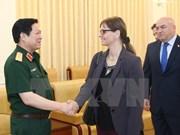 吴春历大将会见以色列驻越大使埃隆·沙哈尔