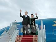 越南国家主席陈大光接受白俄罗斯国家电视台的采访
