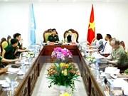 联合国维和行动部代表与越南维和中心举行工作会谈