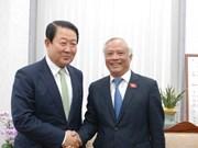越南国会副主席汪周刘访问韩国