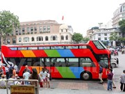 河内双层观光巴士试运行