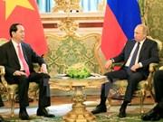越南国家主席陈大光与俄罗斯总统普京举行会谈