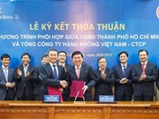 越南胡志明市与越南航空总公司签署合作协议