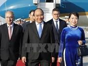 阮春福总理抵达法兰克福 开始对德国进行工作访问