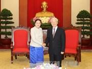 越共中央总书记阮富仲会见老挝国会主席巴妮•雅陶都