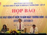 越南将举行多项活动纪念伤残军人与烈士日70周年