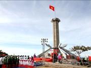 越南广治省昏果岛县旗台正式落成