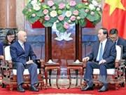 越南国家主席陈大光会见墨西哥前总统卡洛斯