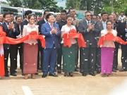 越柬建交50周年:两国陆路运输路线正式通车