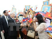 越共中央总书记阮富仲圆满结束对柬埔寨的国事访问