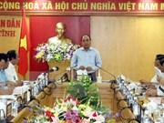 越南政府总理阮春福视察台塑河静钢铁厂废水处理设施和生产线
