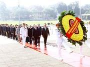 越南伤残军人与烈士日70周年:党和国家领导人入陵瞻仰胡志明主席遗容