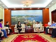 越南广宁省人委会副主席会见菲律宾旅游部代表团